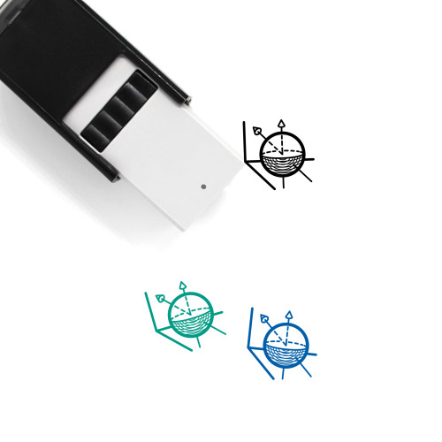3D Model Self-Inking Rubber Stamp No. 12