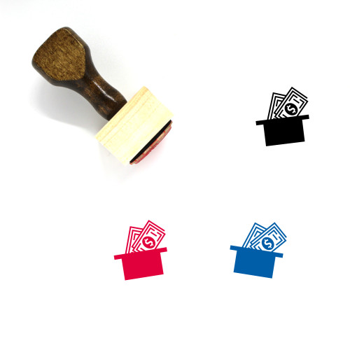 Money Collection Wooden Rubber Stamp No. 3