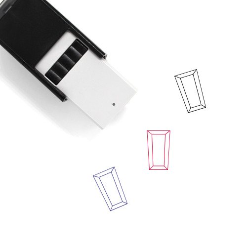 Trapezoidal Baguette Self-Inking Rubber Stamp No. 5