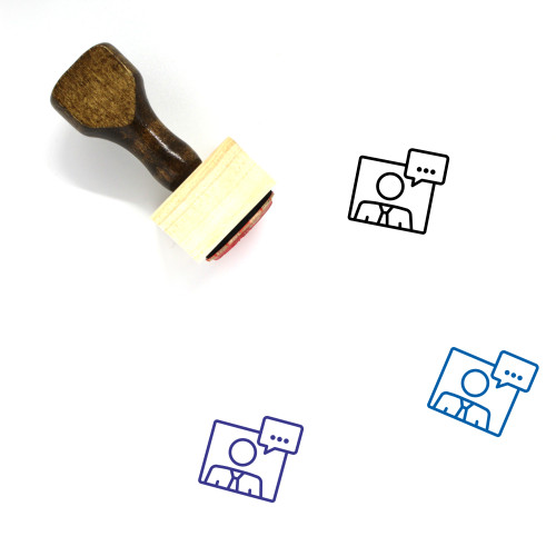 News Wooden Rubber Stamp No. 31