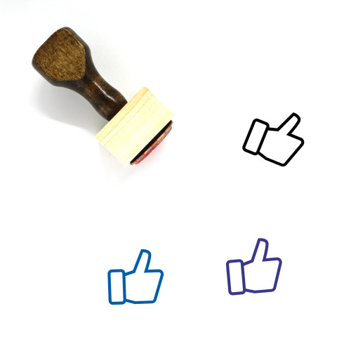 Thumbs Up Wooden Rubber Stamp No. 270