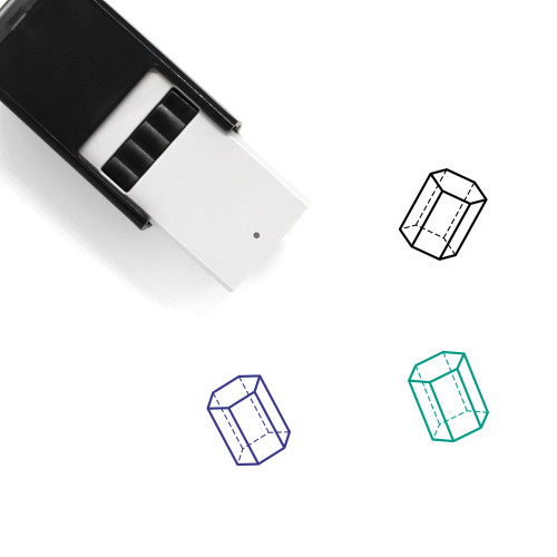 Geometry Shape Self-Inking Rubber Stamp No. 14