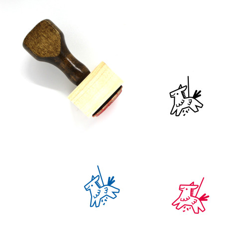 Pinata Wooden Rubber Stamp No. 6