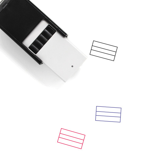 Abstract Self-Inking Rubber Stamp No. 48