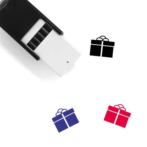 Gift Box Self-Inking Rubber Stamp No. 44