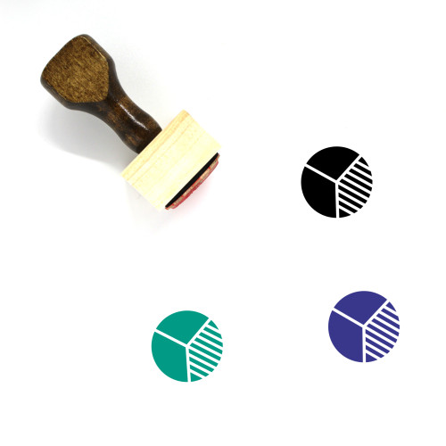 Pie Chart Wooden Rubber Stamp No. 122