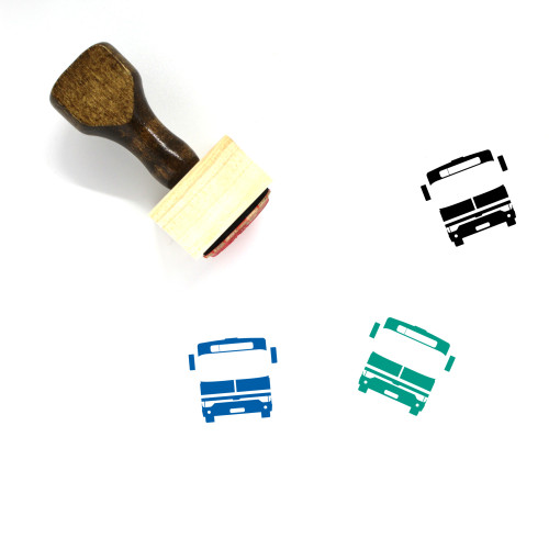Bus Wooden Rubber Stamp No. 132