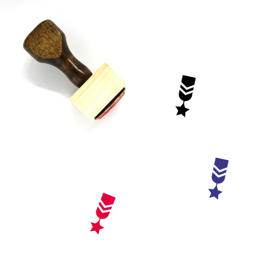 Military Rank Wooden Rubber Stamp No. 77