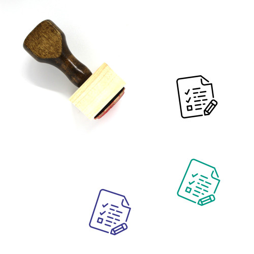 Exams Wooden Rubber Stamp No. 10