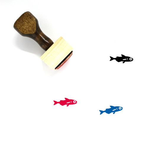 Fish Wooden Rubber Stamp No. 284