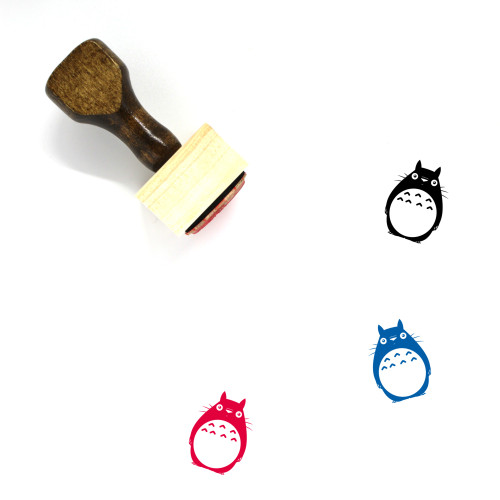Totoro Wooden Rubber Stamp No. 4
