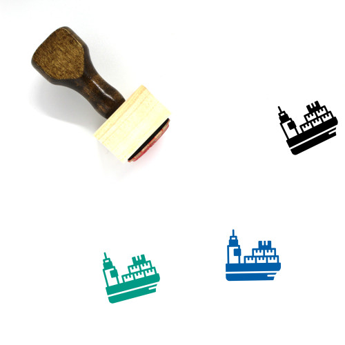 Naval Delivery Wooden Rubber Stamp No. 7