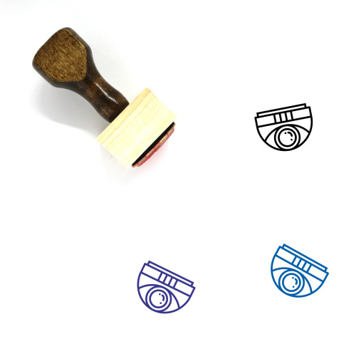 Dome Camera Wooden Rubber Stamp No. 5