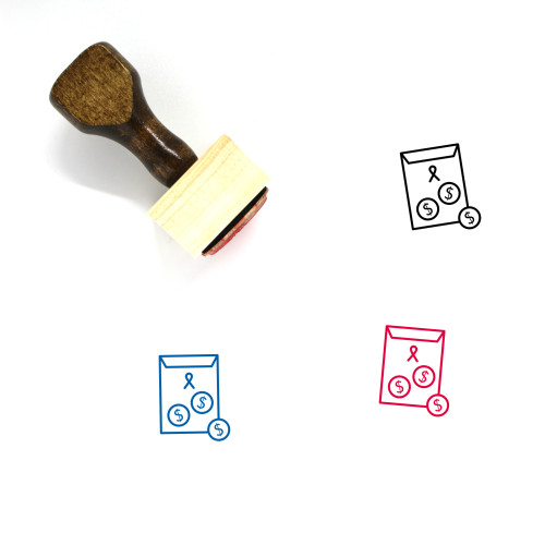 Donate Wooden Rubber Stamp No. 34