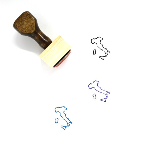 Italy Wooden Rubber Stamp No. 44