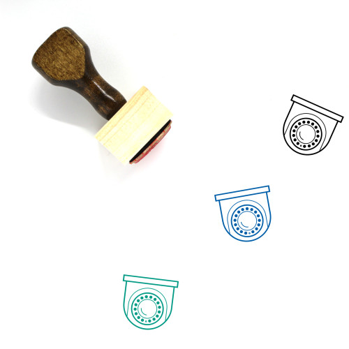 Security Camera Wooden Rubber Stamp No. 111