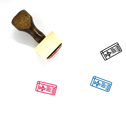 Boarding Pass Wooden Rubber Stamp No. 10