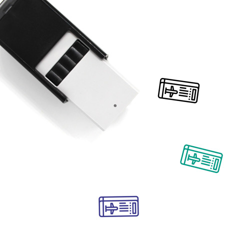 Boarding Pass Self-Inking Rubber Stamp No. 10