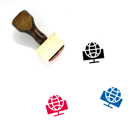 Internet Browsing Wooden Rubber Stamp No. 16