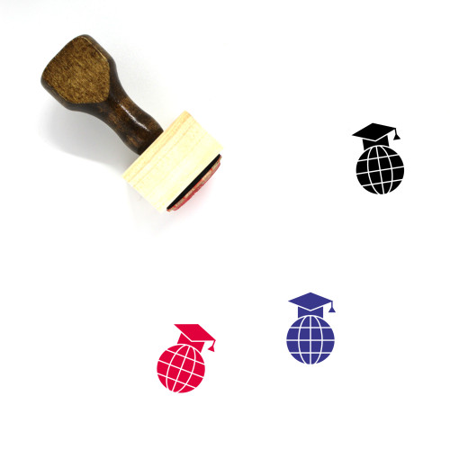 Academic Wooden Rubber Stamp No. 9