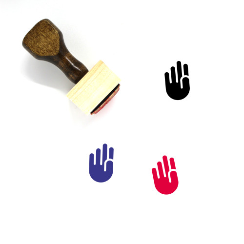 Hand Wooden Rubber Stamp No. 399