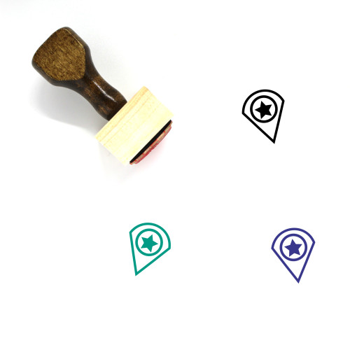 Favorite Location Wooden Rubber Stamp No. 60