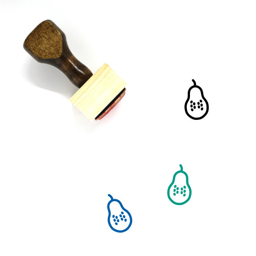 Guava Wooden Rubber Stamp No. 33