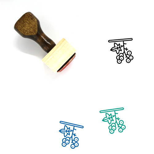 Berry Wooden Rubber Stamp No. 41