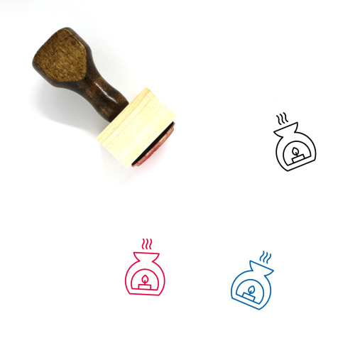 Aroma Lamp Wooden Rubber Stamp No. 4