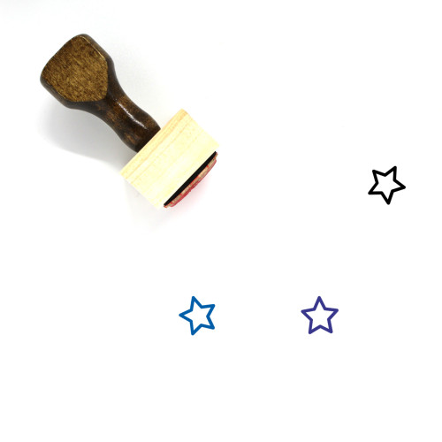 Star Wooden Rubber Stamp No. 1