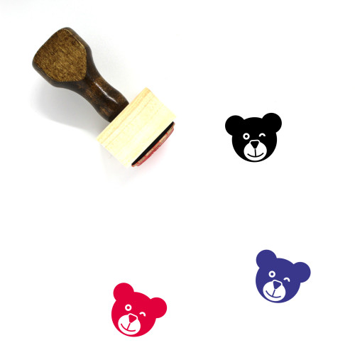 Bear Wooden Rubber Stamp No. 146
