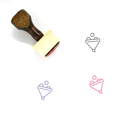 Funnel Wooden Rubber Stamp No. 43