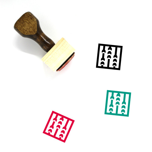 Abacus Wooden Rubber Stamp No. 25