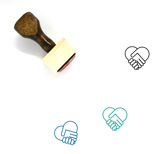 Handshake Wooden Rubber Stamp No. 94