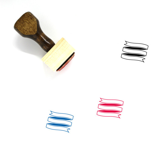 Ribbon Banner Wooden Rubber Stamp No. 66