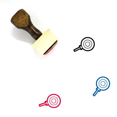 Lollipop Wooden Rubber Stamp No. 73