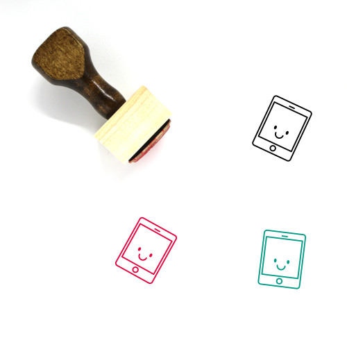 Tablet Wooden Rubber Stamp No. 146