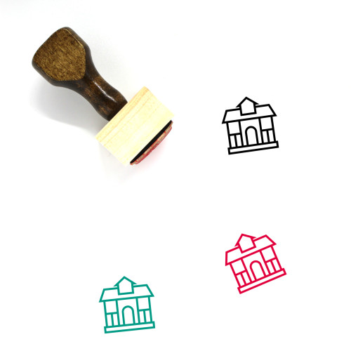 Residential Building Wooden Rubber Stamp No. 22