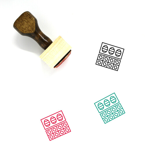 Easter Eggs Wooden Rubber Stamp No. 143