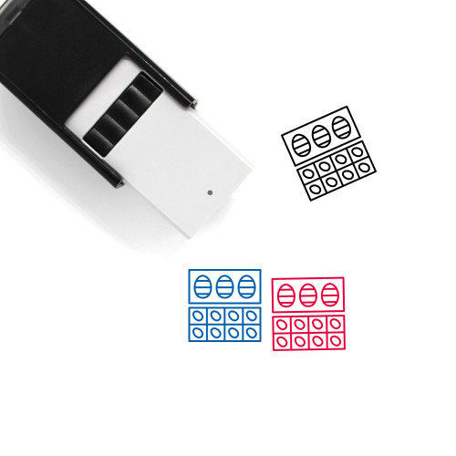 Easter Eggs Self-Inking Rubber Stamp No. 143