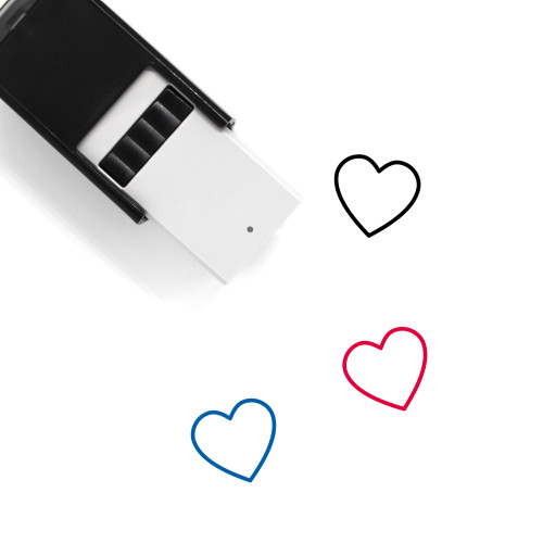 Heart Self-Inking Rubber Stamp No. 1490