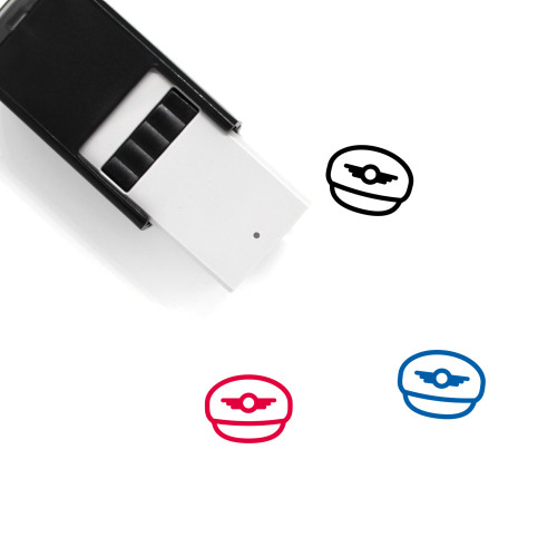 Pilot Hat Self-Inking Rubber Stamp No. 1