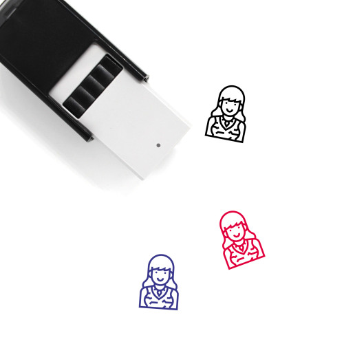 Neolithic Woman Self-Inking Rubber Stamp No. 2