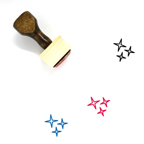 Stars Wooden Rubber Stamp No. 67