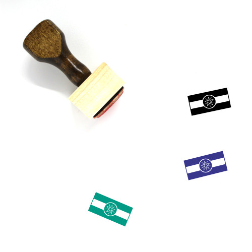 Ethiopia Flag Wooden Rubber Stamp No. 8