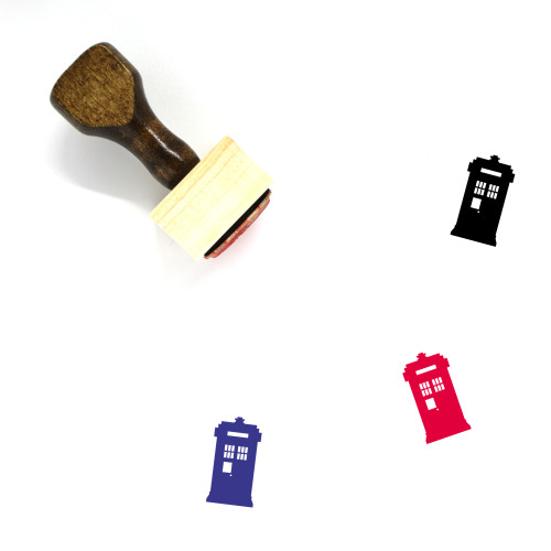 Police Box Wooden Rubber Stamp No. 2
