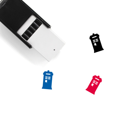 Police Box Self-Inking Rubber Stamp No. 2
