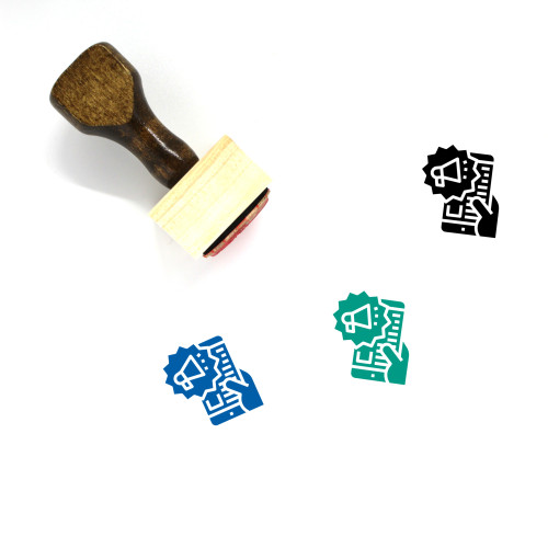 Campaign Wooden Rubber Stamp No. 6