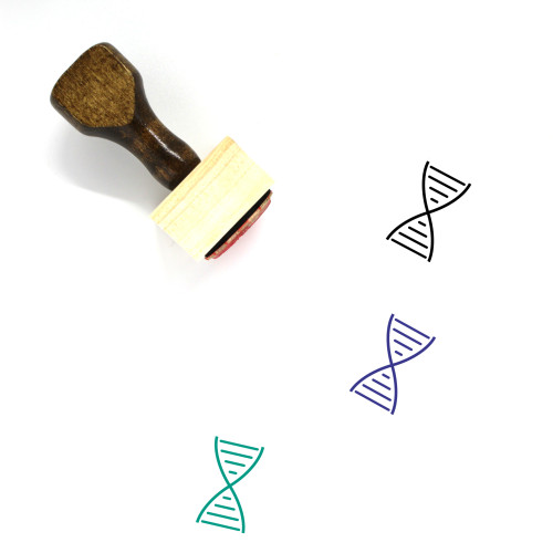 DNA Wooden Rubber Stamp No. 162