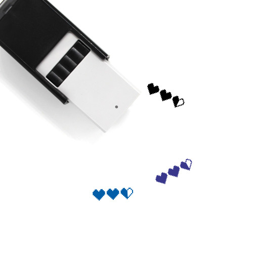 Hearts Self-Inking Rubber Stamp No. 284